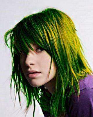 Hayley Williams Green Hair by PurpleShadowMonster on deviantART