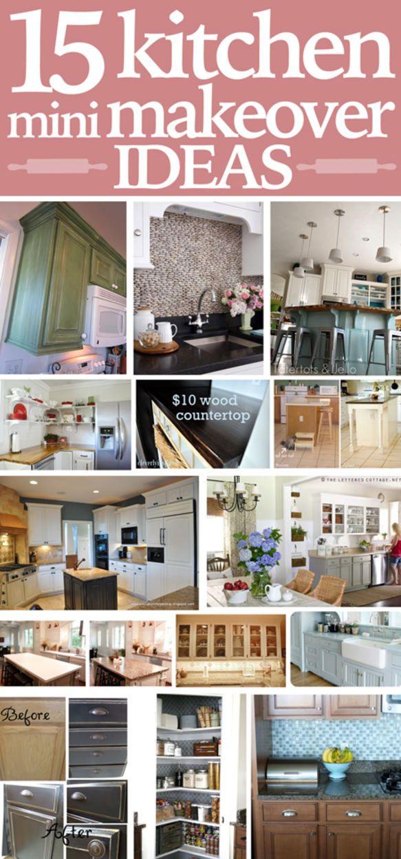 Get Inspired: Kitchen Mini-Makeover Ideas | Pinterest | Küchen ...