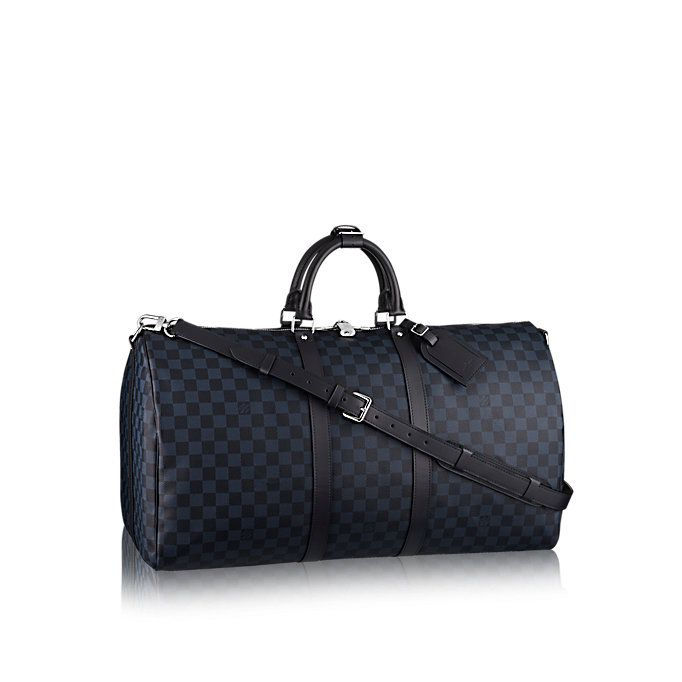 e1072983c9 Keepall Bandoulière 55 Damier Cobalt Canvas in Men's Travel collections by Louis  Vuitton