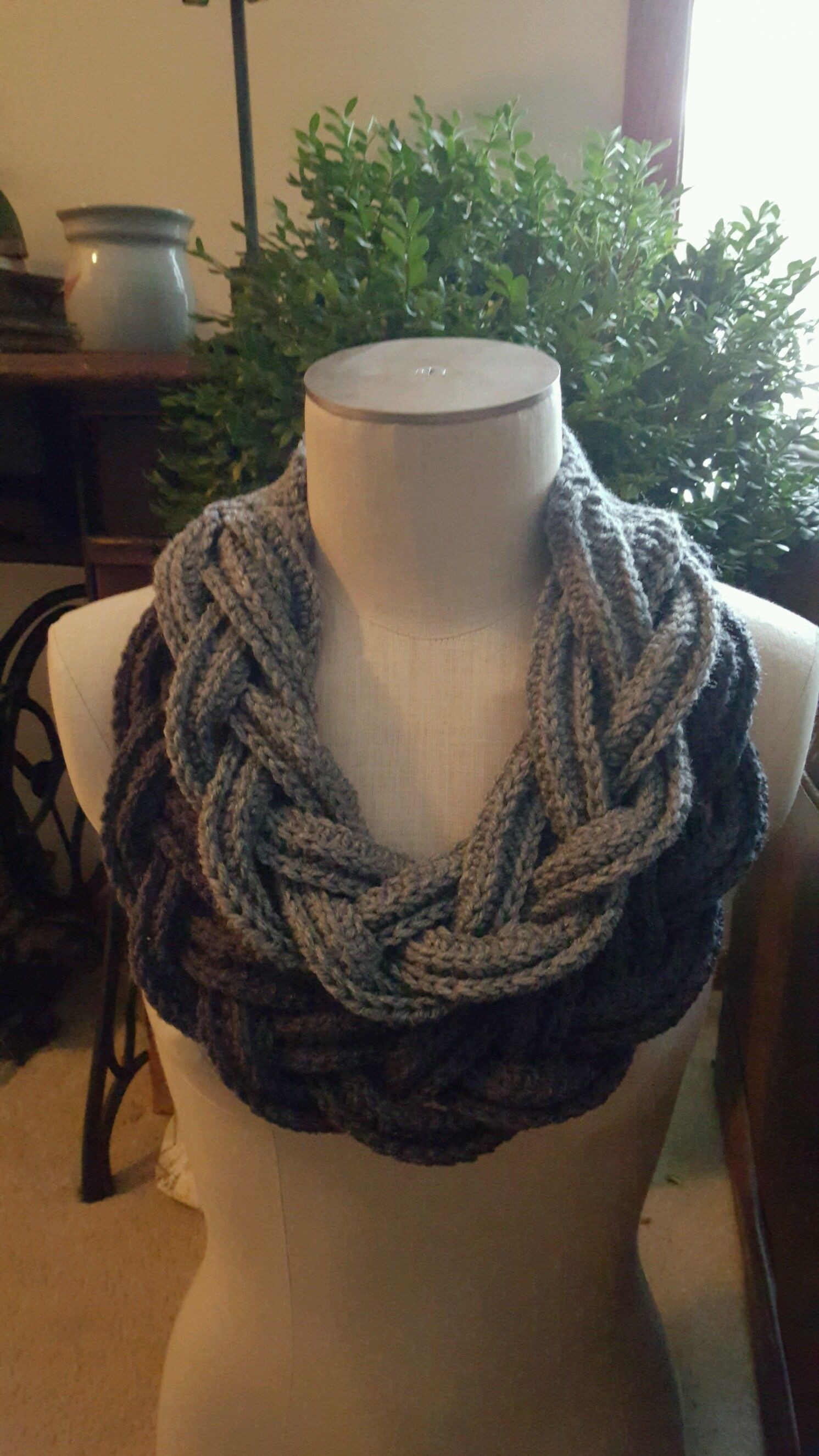 Double Layer Braided Cowl Free pattern on Ravelry | Bufandas ...