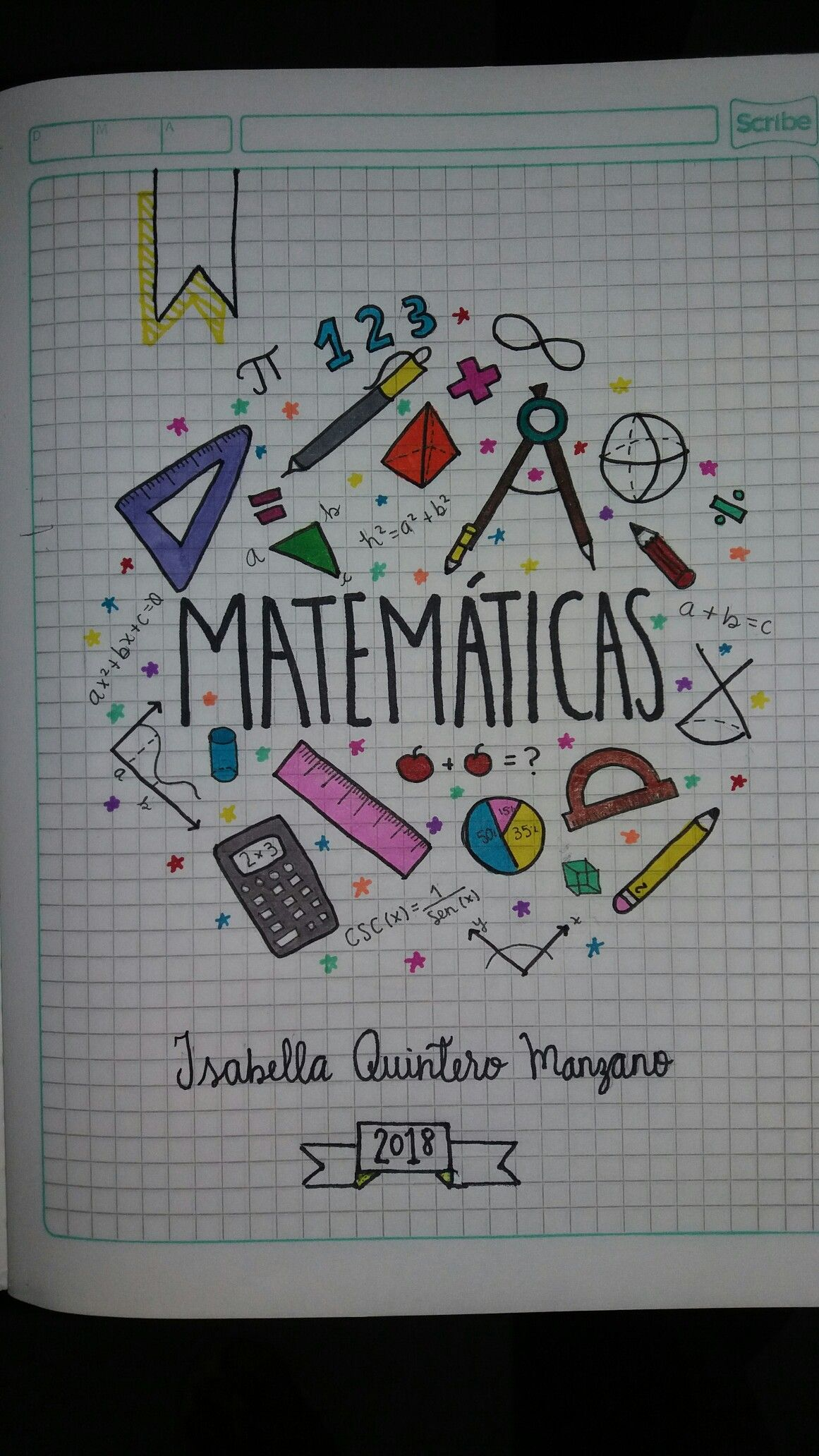 Cuaderno matemáticas Math Notebook | Caratulas y Apuntes