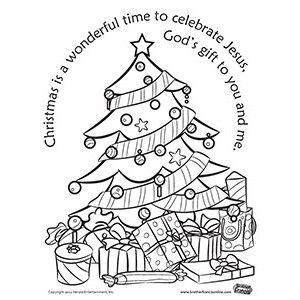 Please enjoy our free Christmas tree coloring page