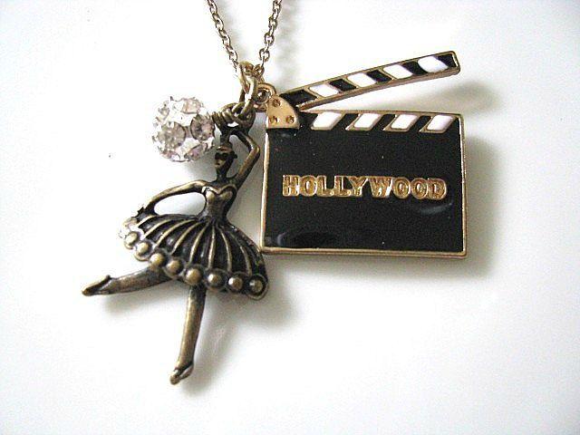 Hollywood Movies CUT Film Clapperboard Necklace  by AllureByU, $28.00