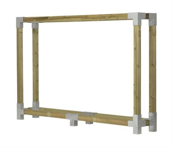 Photo of Firewood shelf Firewood shelf Cubic Plus 286x50x188cm natural kdi   Furniture & Living …