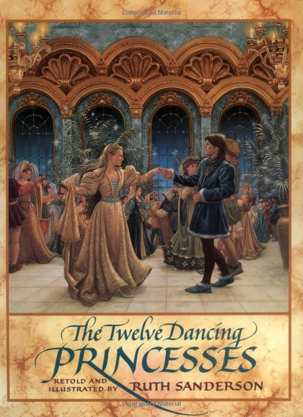 The Twelve Dancing Princesses retold and illustrated by Ruth Sanderson.  I'd really love to frame a few of these pages for my walls....This was my favorite book as a little girl!!!