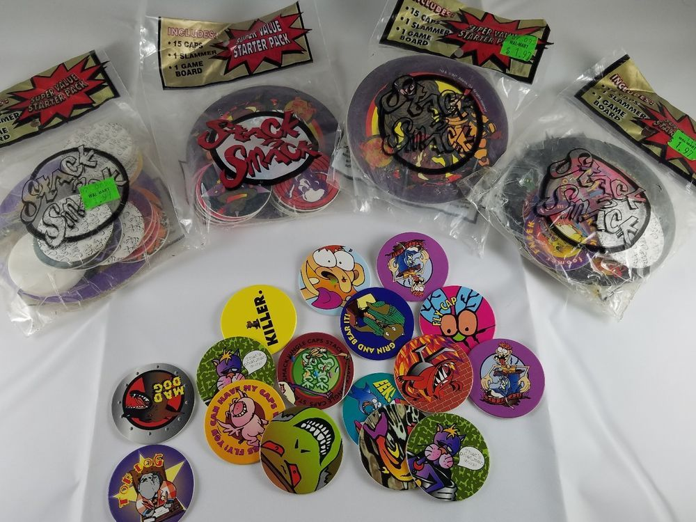 Lot 70+ Vintage Collectible Pogs/Slammers/Caps Some Still
