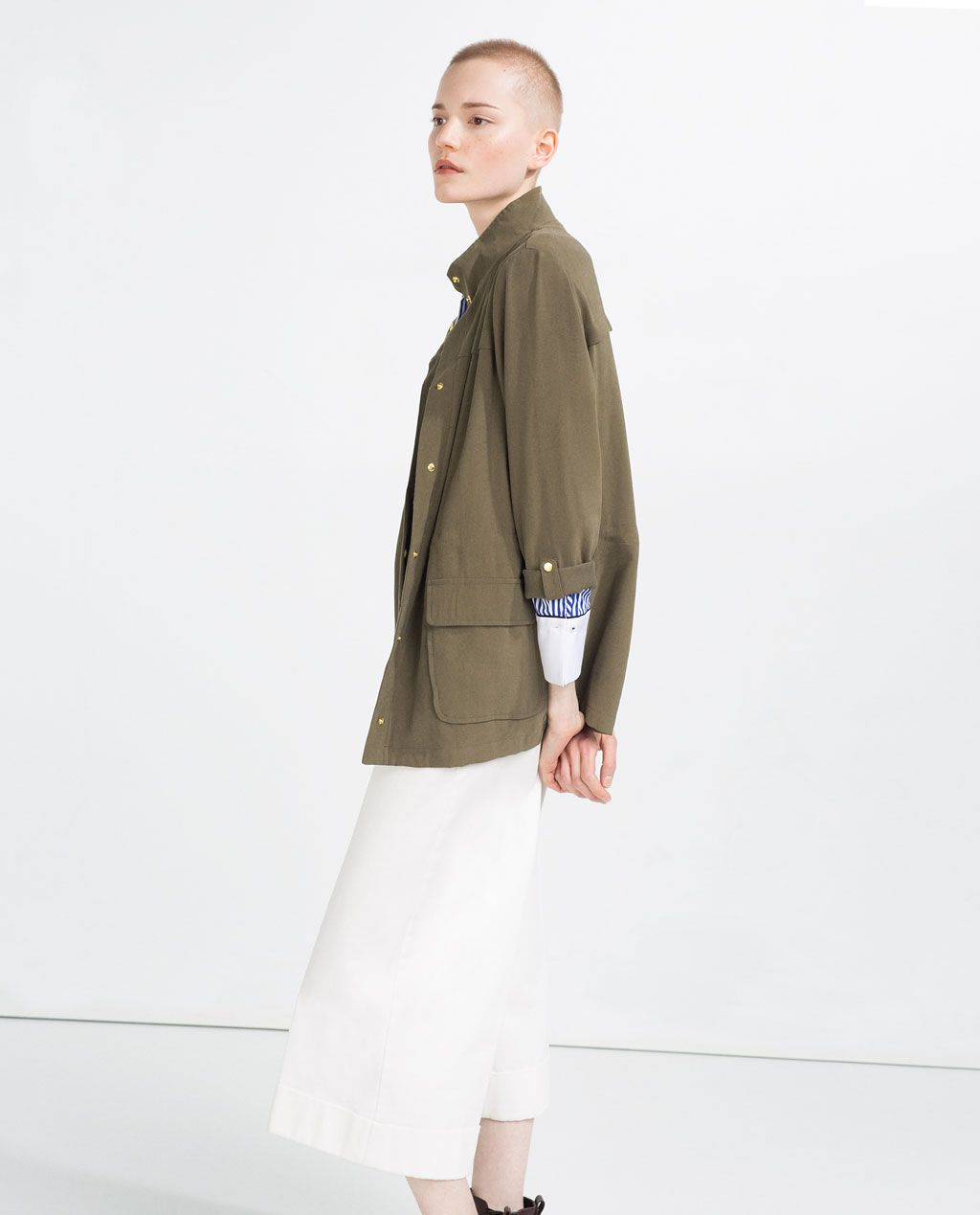 a96f4c0f SAFARI JACKET WITH HIGH NECK-Jackets-OUTERWEAR-WOMAN-SALE | ZARA United  States