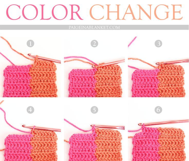 kniting how to change color