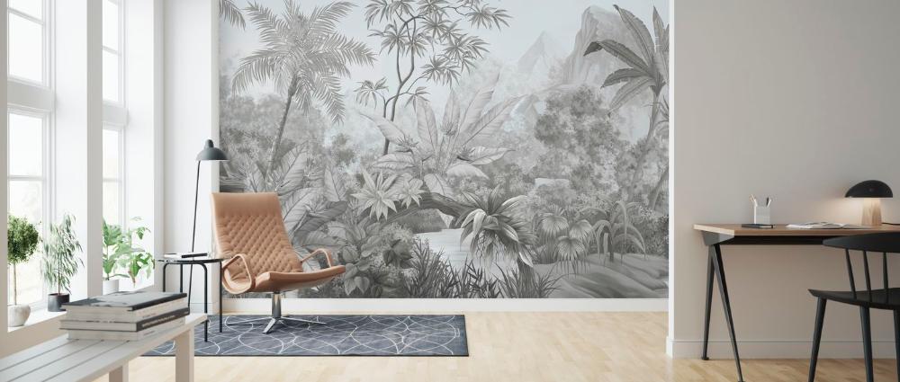 Tangled Jungle Ii Wall Murals Online Photowall In 2020 Interior Wallpaper Jungle Mural Blue Decor