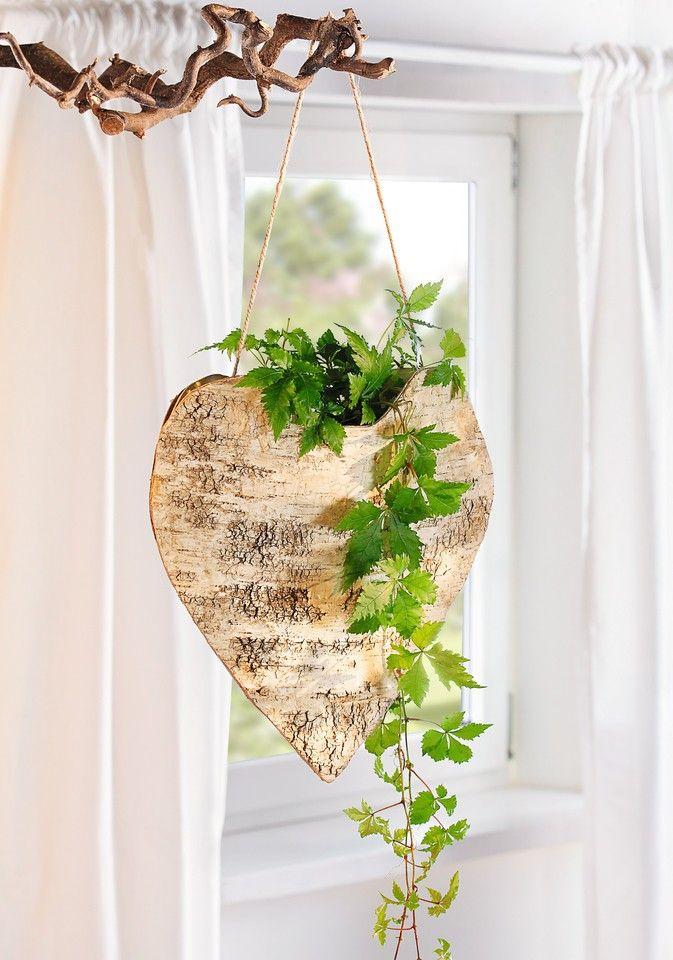 Birkenholz Und Birkenrinde In Herzform Robuste Sisalschnur