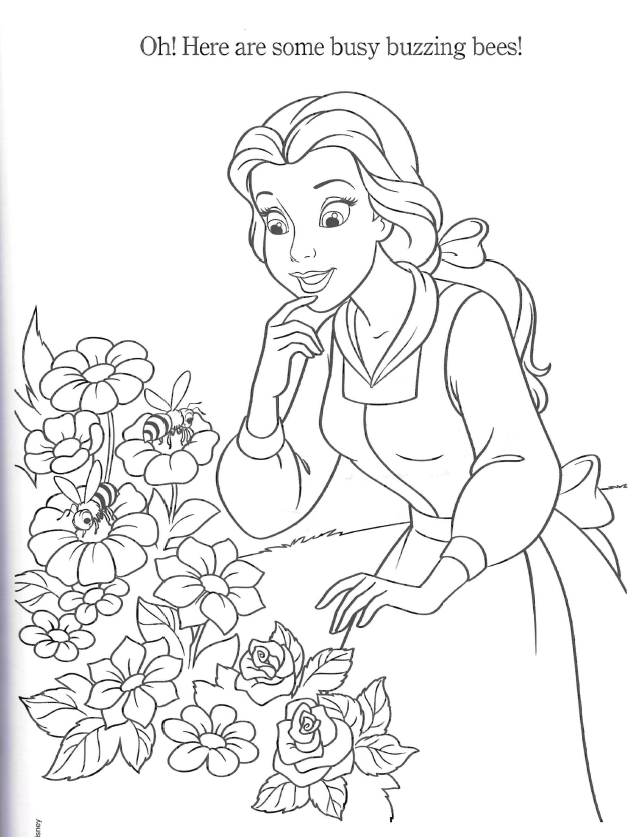 Belle Colouring Pages Disney Coloring Pages Bee Coloring Pages Belle Coloring Pages