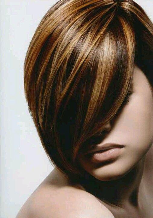 Summer Hair Color HighlightsShort Dark