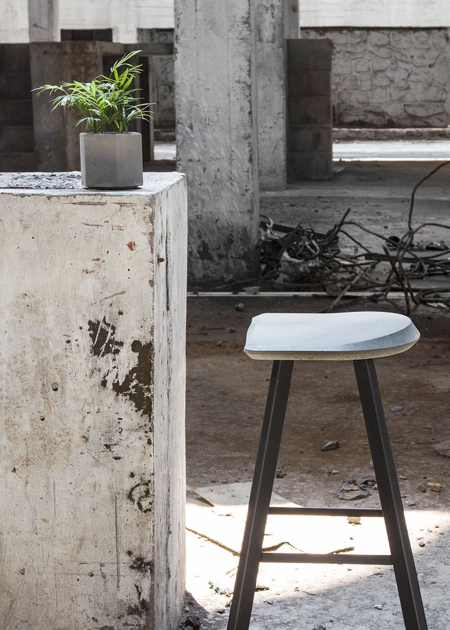 bar chairs concrete cream round table and stool cool or sexy on behance furniture
