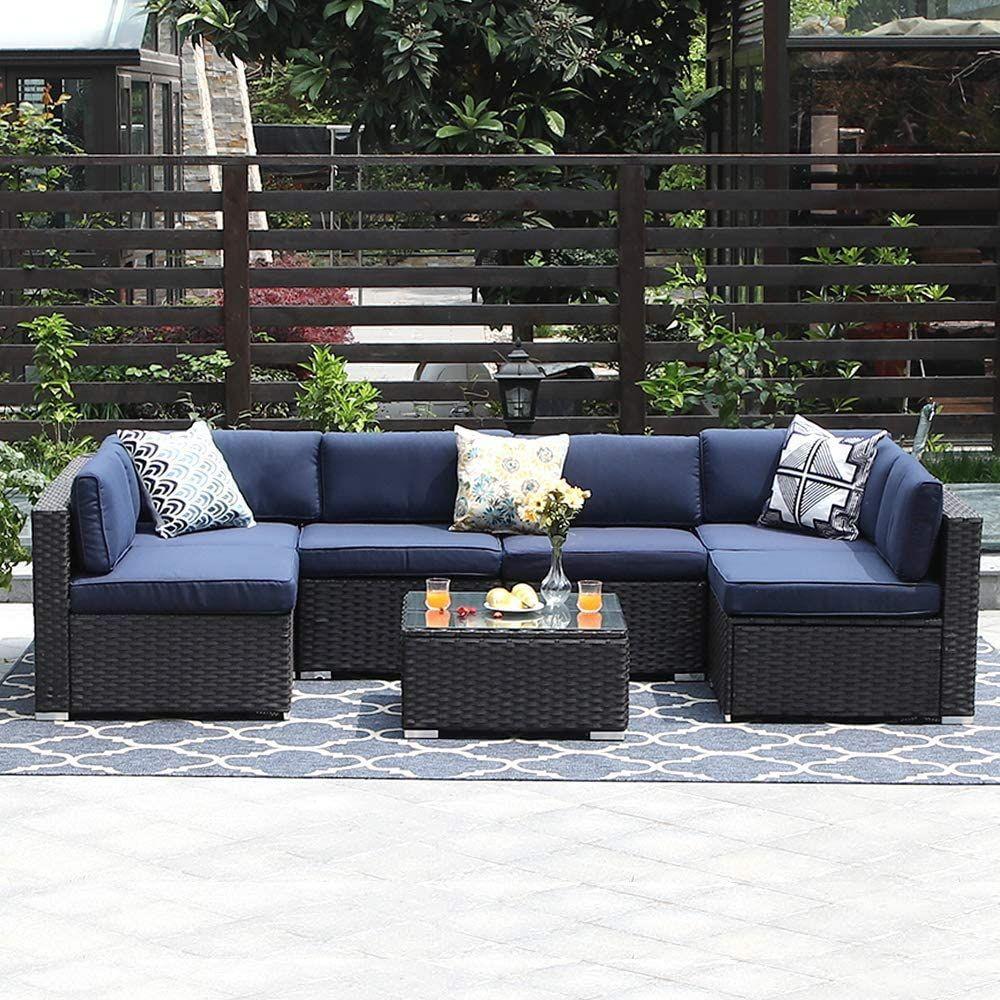 phi villa 7 piece outdoor sectional