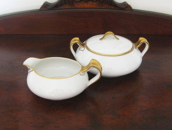 gorgeous art deco haviland limoges creamer sugar bowl with lid only at moseley stokes 49. Black Bedroom Furniture Sets. Home Design Ideas