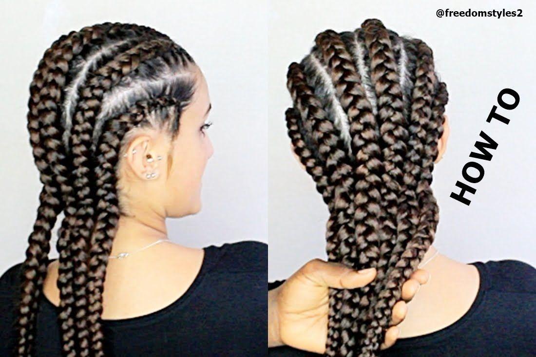 How To Do Jumbo Cornrows Summer Hairstyle Youtube Hair Styles Trendy Short Hair Styles Cornrow Hairstyles