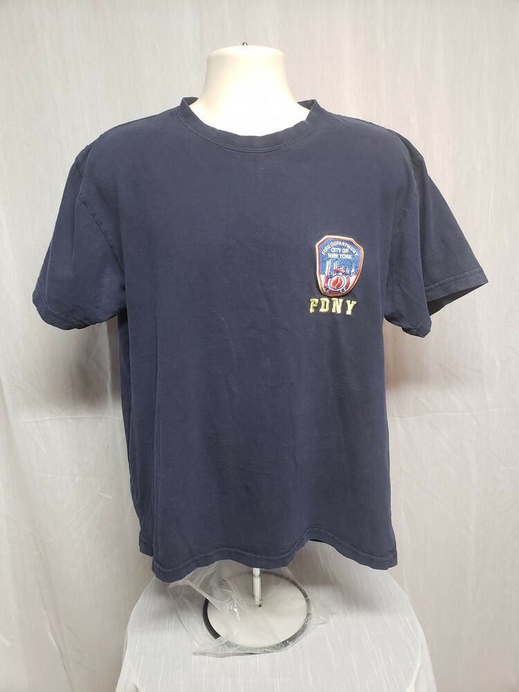 89d59fae Officially Licensed FDNY Fire Department of New York Adult Large Blue TShirt  #OfficiallyLicensedFDNY #GraphicTee. Find this Pin and more on T-Shirts ...