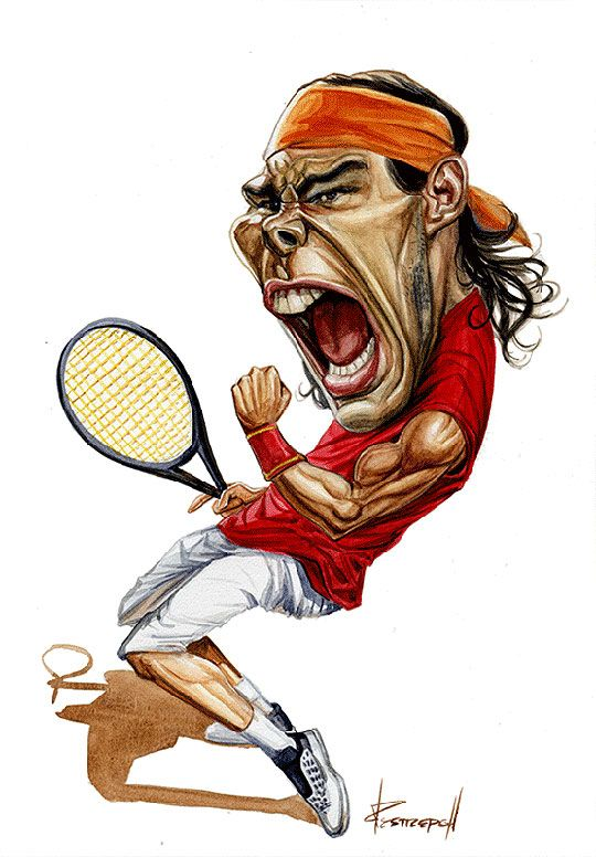 famosos en caricatura more rafael nadal caricatures and tennis ideas. Black Bedroom Furniture Sets. Home Design Ideas