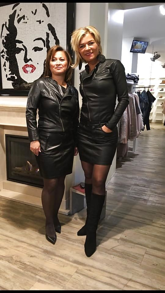 Two Dutch Matures Leather Lady Mix In 2019