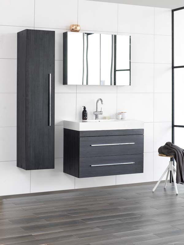 KARWEI | Deze grijze badkamermeubels geven de badkamer een strakke ...