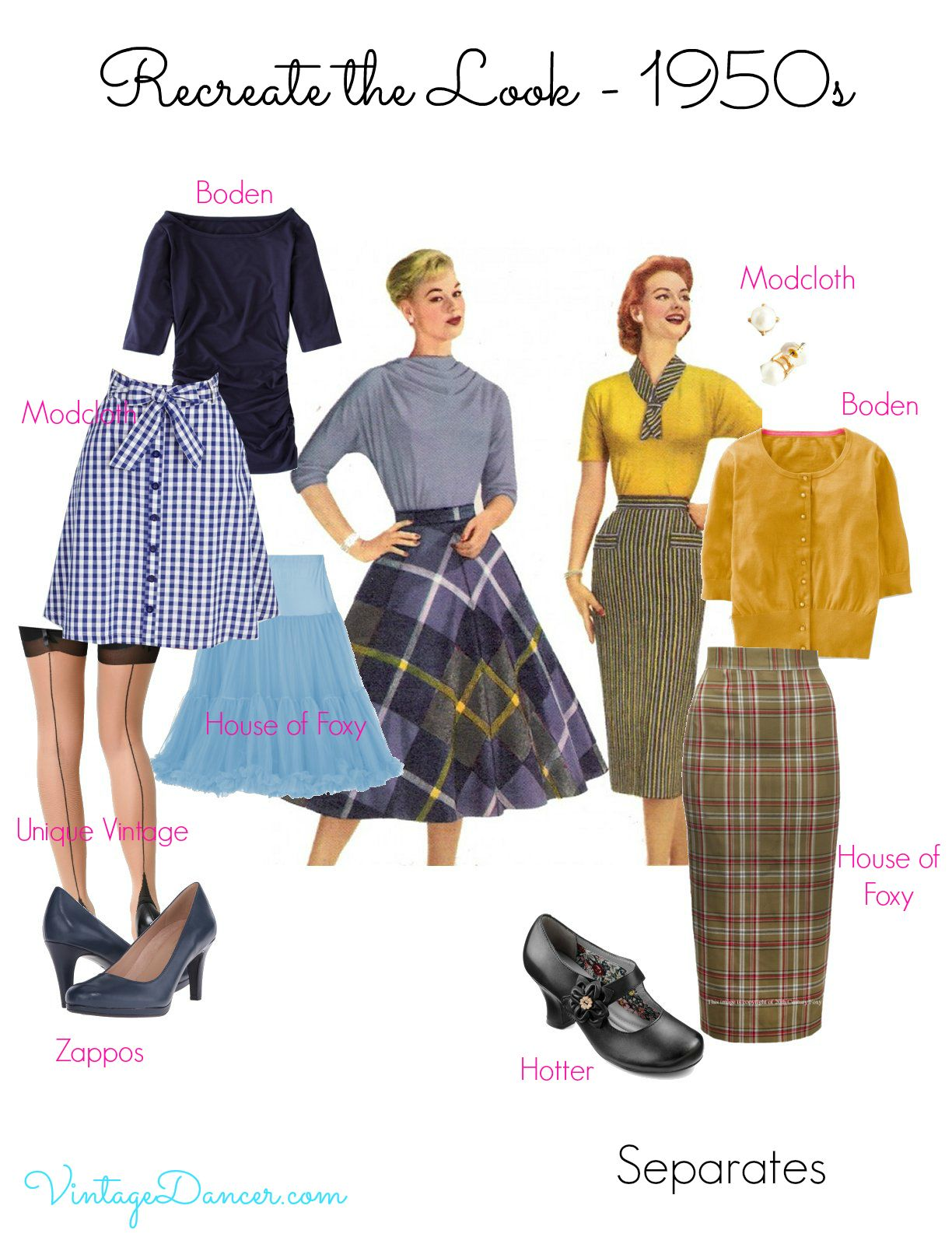 508b84888 1950s Inspired Fashion: Recreate the Look - today's pieces that might work