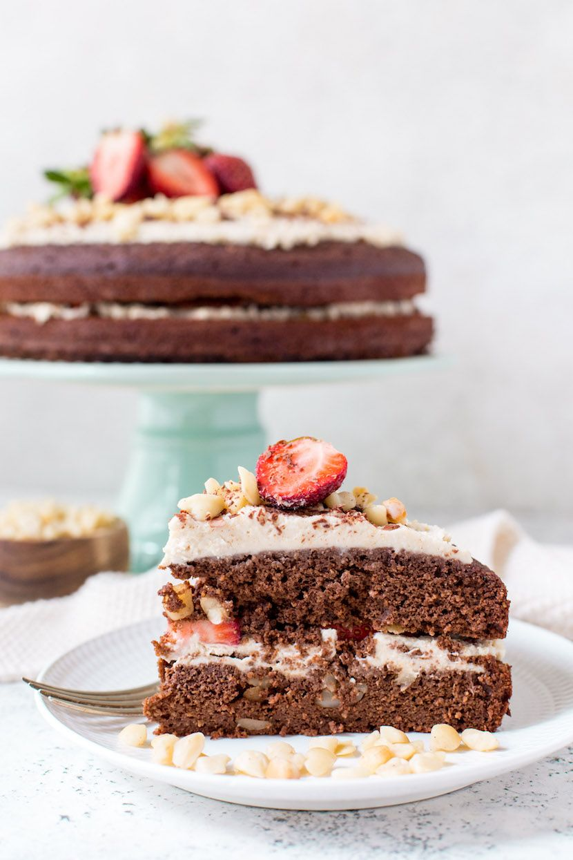 Gf Chocolate Macadamia Cake With Macadamia Maple Cream Recipe