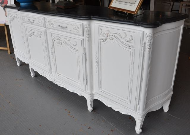 buffet repeint blanc relooking meuble ancien home pinterest. Black Bedroom Furniture Sets. Home Design Ideas