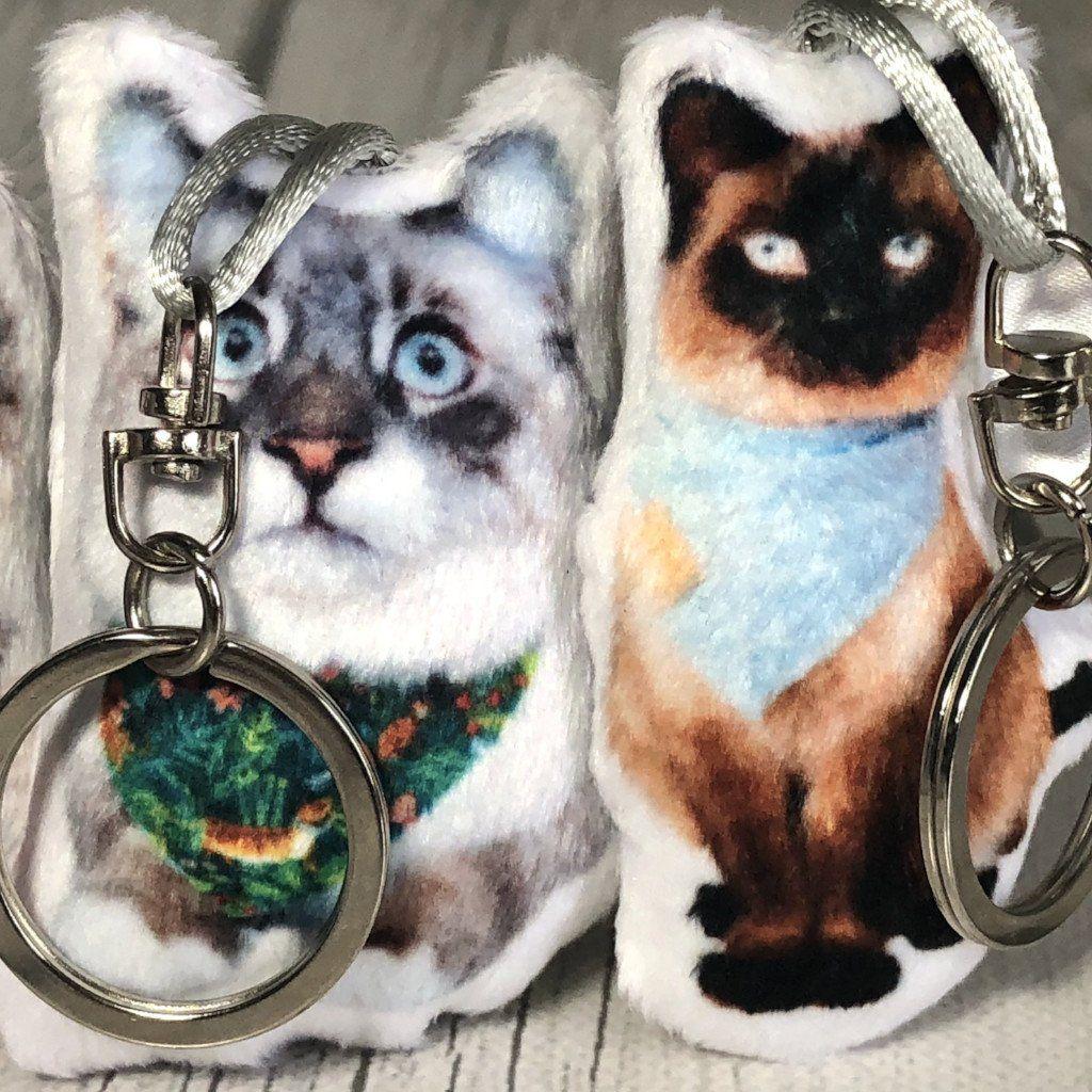 Custom Cat Keychain Plush Pillow Pet