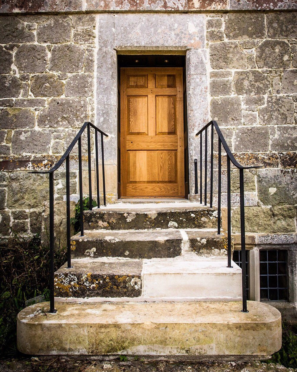 Picture of a door and steps at a Dorset Country farm - edited on my IPhone