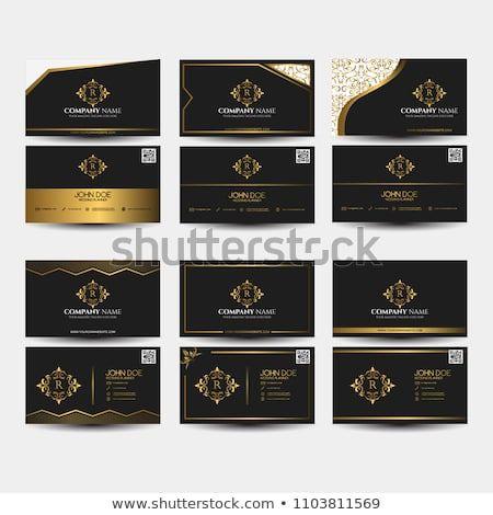 e873772de3a Set of business card. Stylish decorative vintage