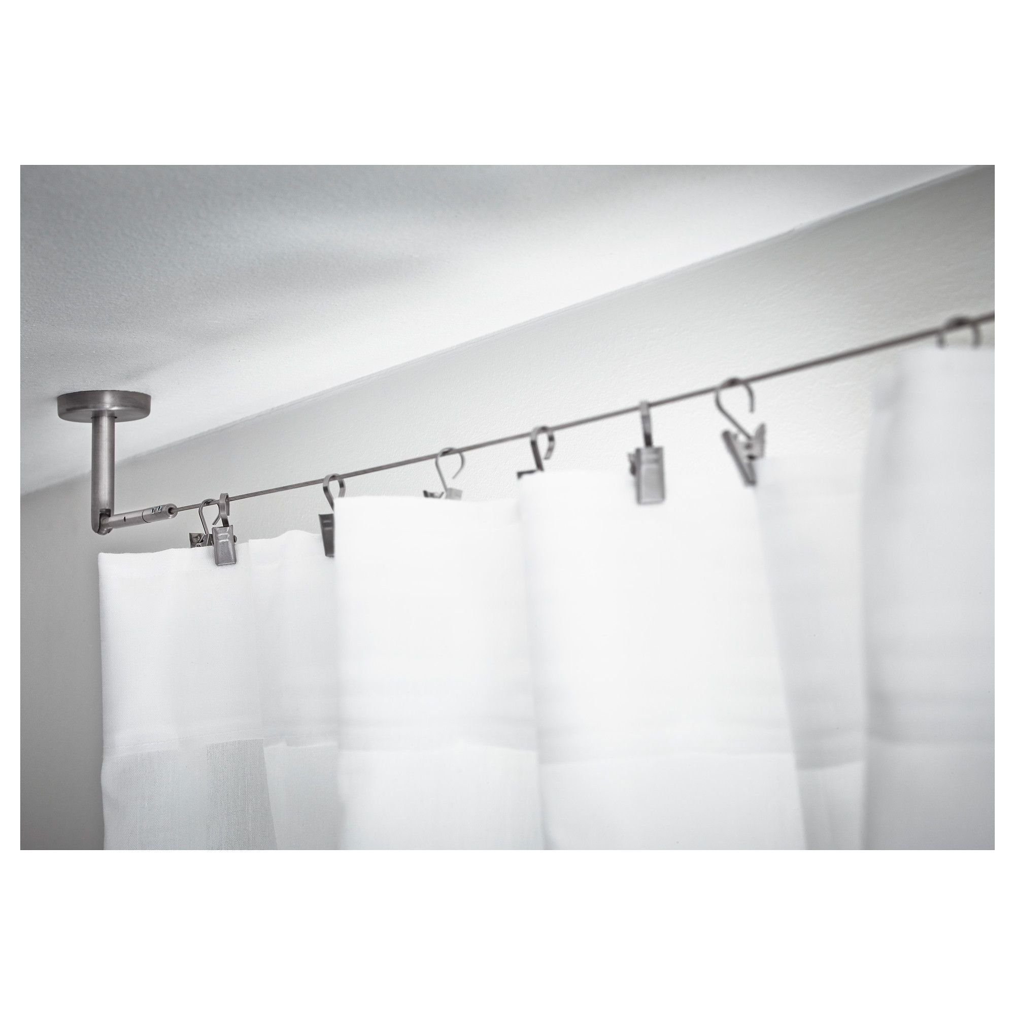 Wire Curtain Rod Shower Rods Rails Room Divider