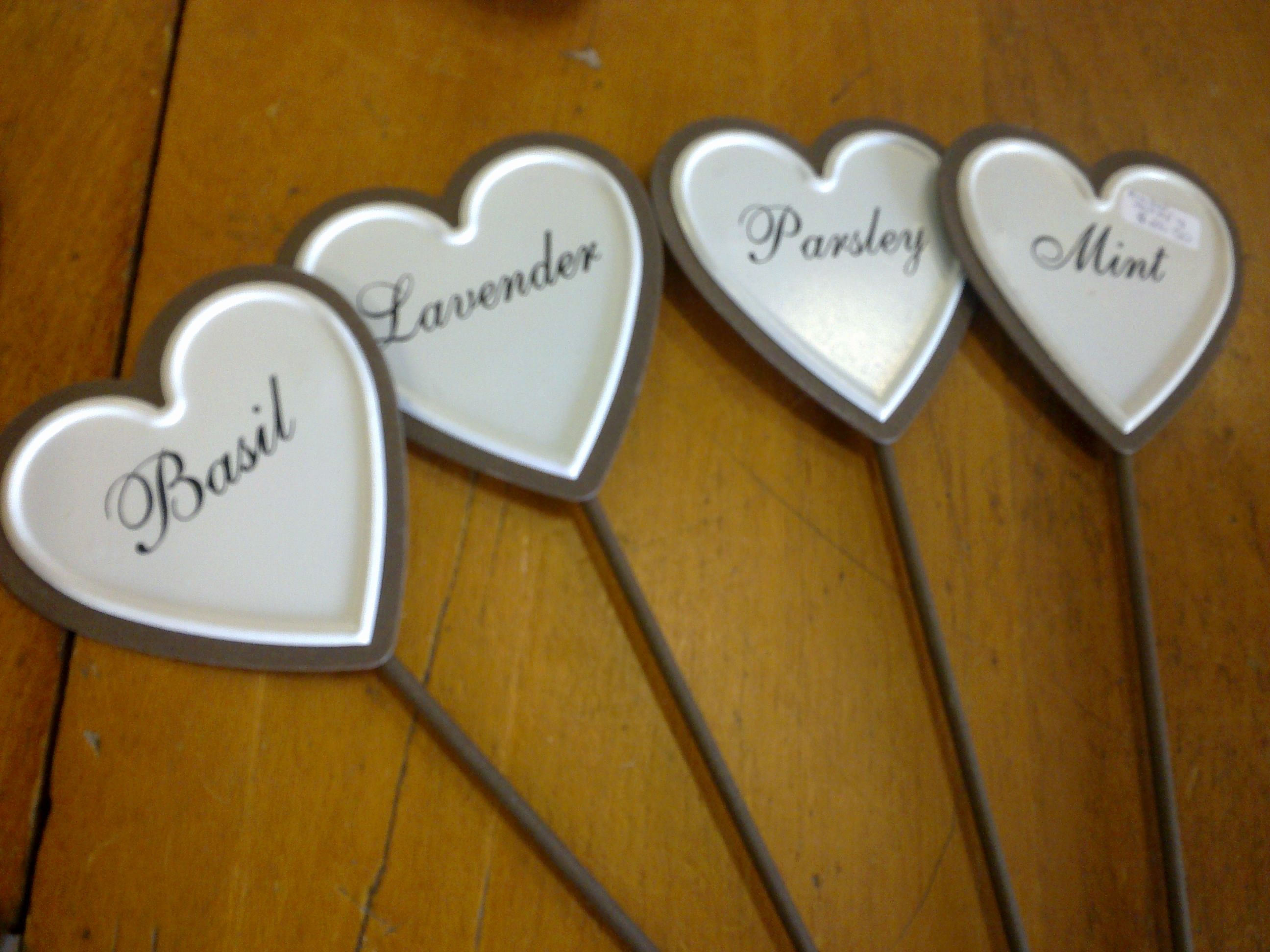 Set of four garden plant labels made from heavy iron. $26.50 SOLD ...