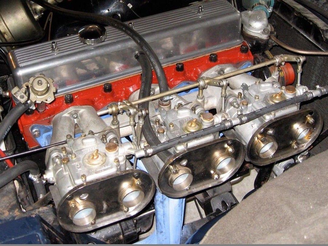 Emilio's triple Weber Triumph TR6.