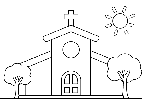Free Printable Church Coloring Page Download It At Https Museprintables Com Downlo Coloring Pages Dream Catcher Coloring Pages Free Printable Coloring Pages