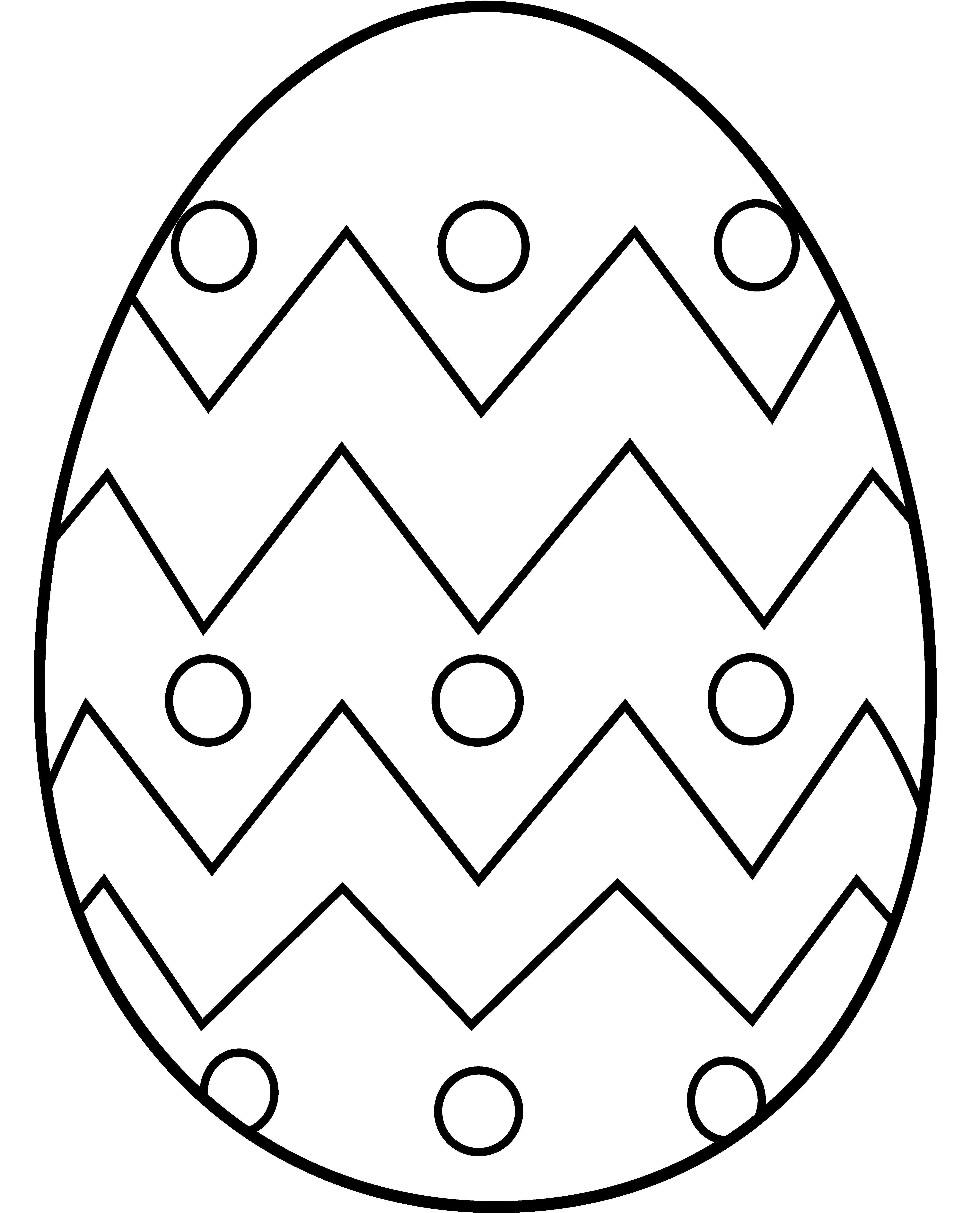 Easter egg to color in coloring pages pinterest easter easter