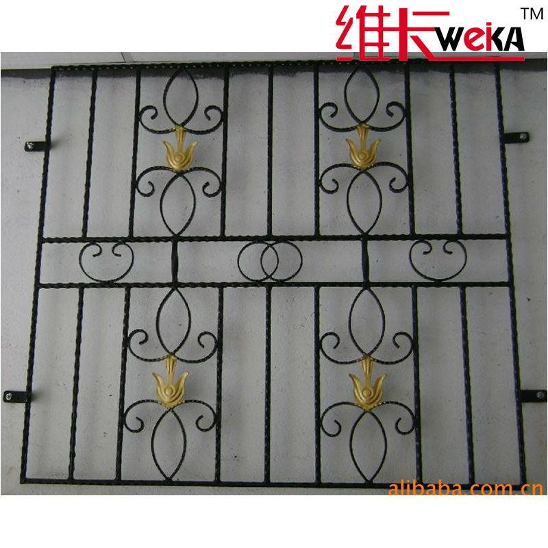 modern wroguht iron security window grill Windows Doors Security