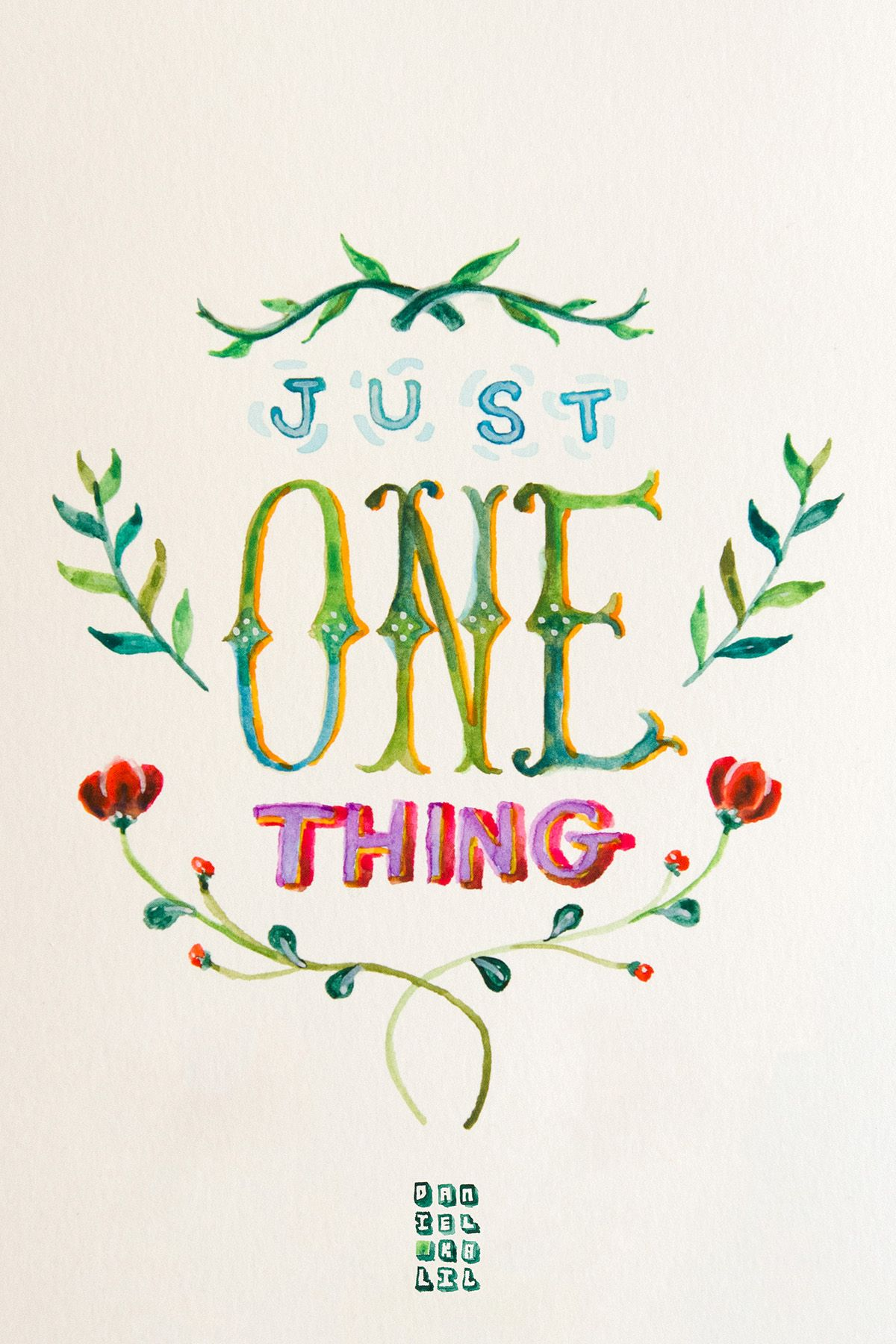 """...just one thing..."" #watercolor #type #aquarela #quotes #umbertoeco"