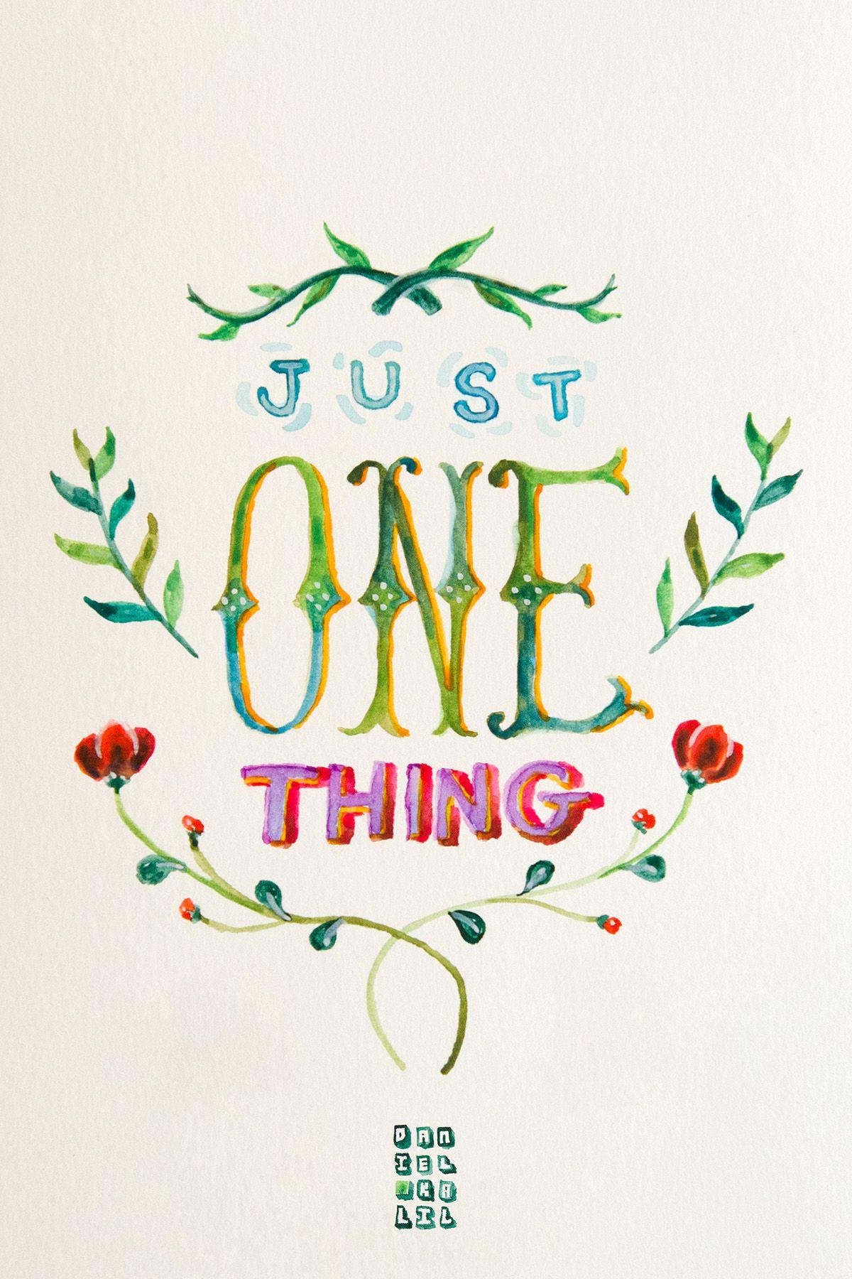"""...just one thing..."" #watercolor #type #aquarela #quotes #umbertoeco"