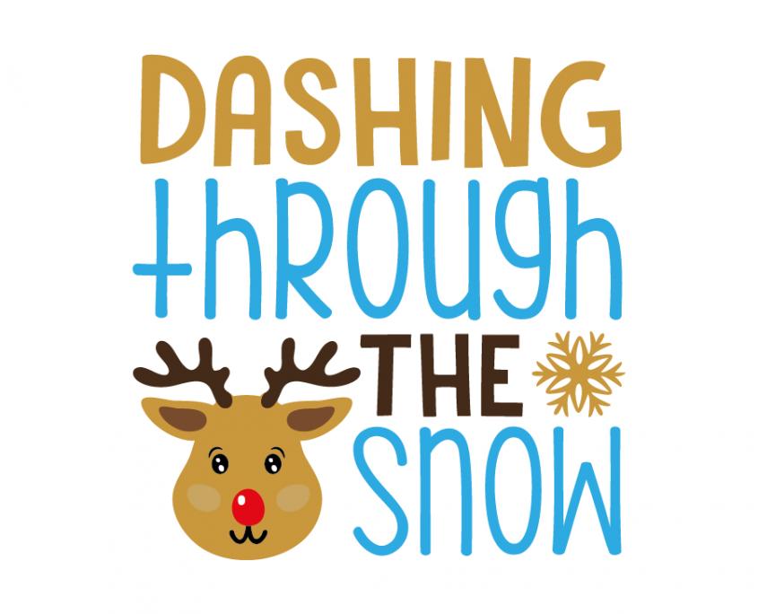 Free SVG cut file - Dashing through the snow