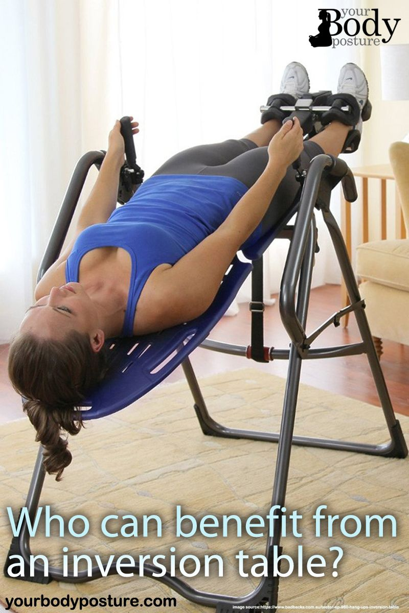 The Inversion Table Can Be Used For Perfect Body Exercise Such As Relieving The Pressure On The Back Spine Relaxing The Inversion Table Exercise Body Posture