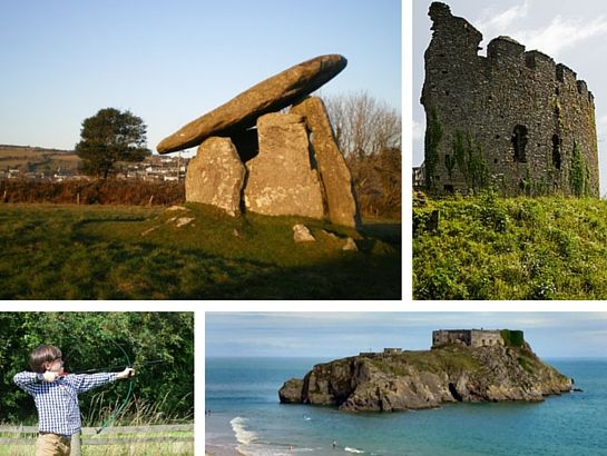 Trethevy Quoit, St Catherine's Castle and Restormel Castle in South East Cornwall