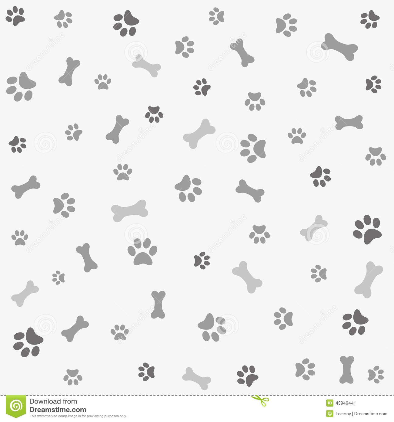 dog print paper | Background With Dog Paw Print And Bone ...