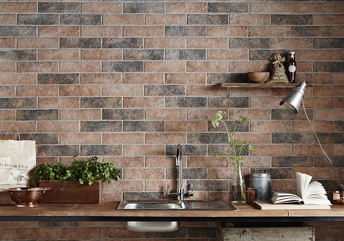 Brick Tiles Exposed Brick Without The Mess Tile Mountain Brick Effect Tiles Brick Tiles Wall Tiles