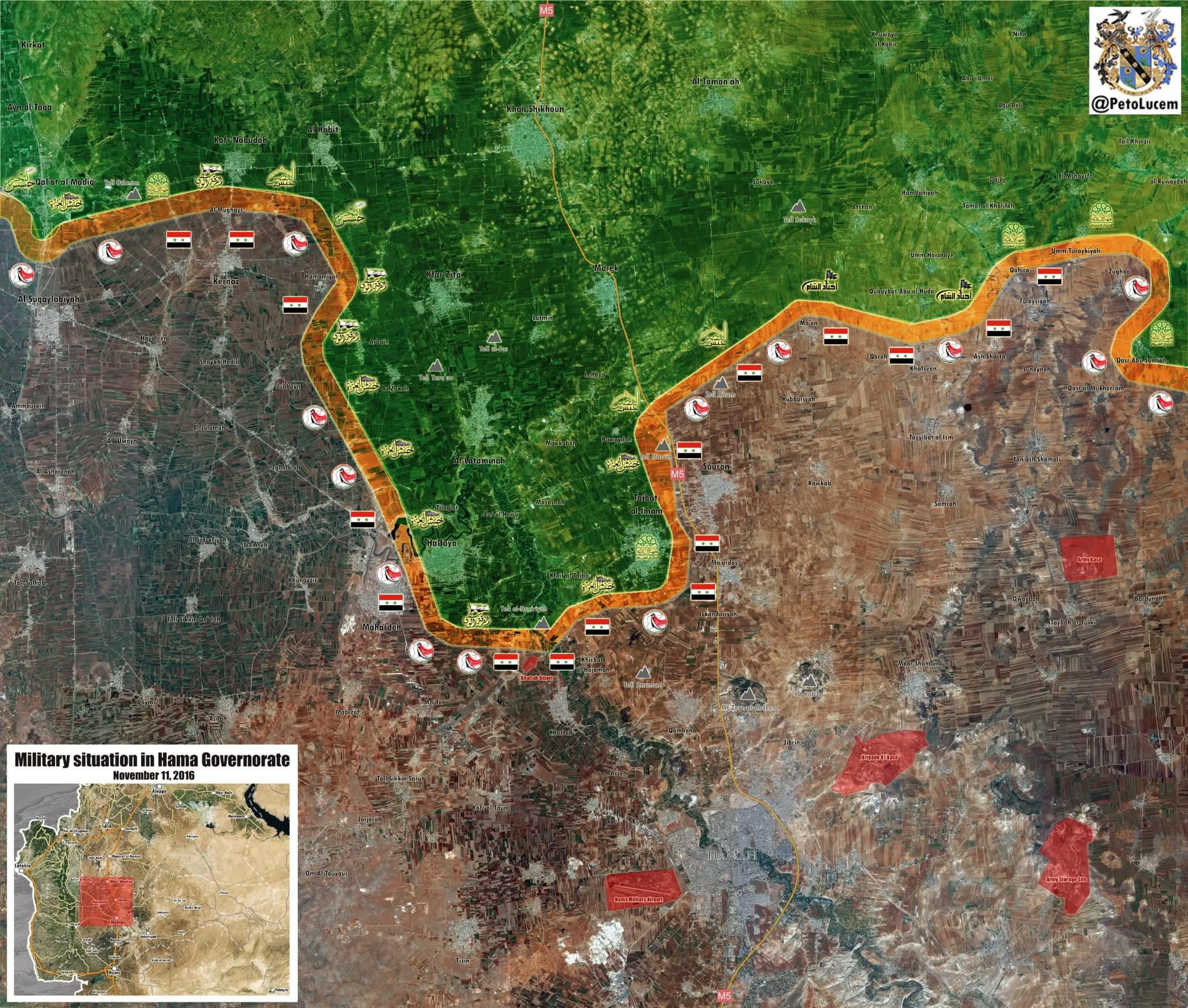 NEW MAP: Military situation in #Hama Governorate. #Syria HD version ...