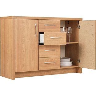 Buy Argos Home Venice 2 Door 4 Drawer Sideboard Oak Effect Sideboards Argos Oak Sideboard Argos Home Locker Storage