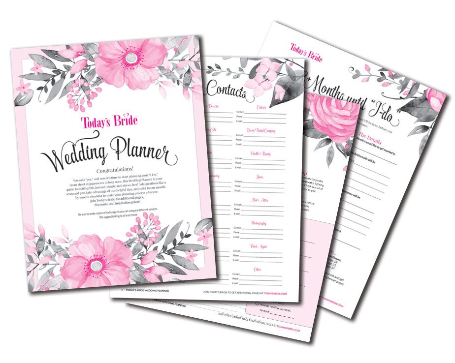 Free wedding planner printables checklists and more at