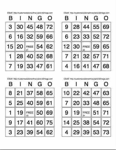 Cartones De Bingo En Pdf Para Imprimir 2000 Cartones 500 H En Bellavista Callao Ofertas Julio Free Bingo Cards Bingo Card Template Bingo Cards Printable