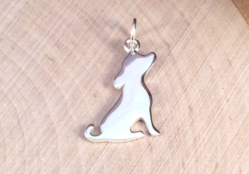 Silhouette Puppy Charm, Puppy Charm, Sterling Silver Puppy Charm, Animal Lover Charm, Animal Lover Pendant, Animal Charm, PS0182 by MillpondJewelryCo on Etsy https://www.etsy.com/listing/176258687/silhouette-puppy-charm-puppy-charm