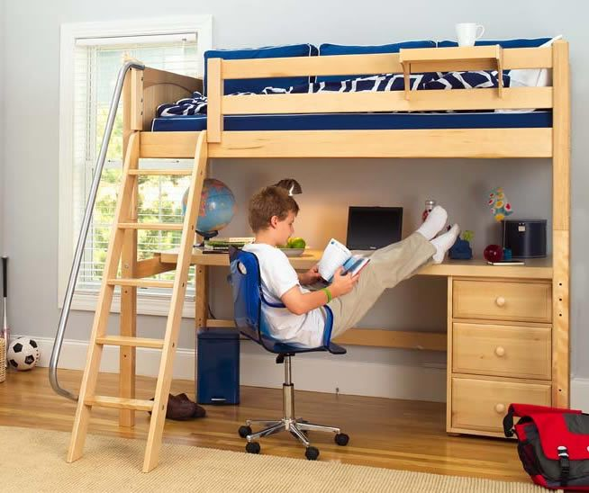 Bed With Desk Part - 44: 15 Interesting Kids Loft Bed With Desk Ideas Digital Picture