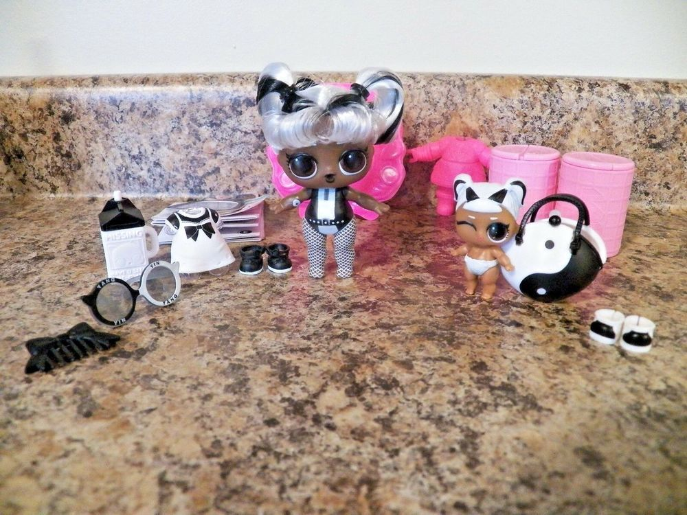 Lot 3 LOL Surprise Doll LiL  MISS BABY glam SERIES 2 Miss Puppy pets collection